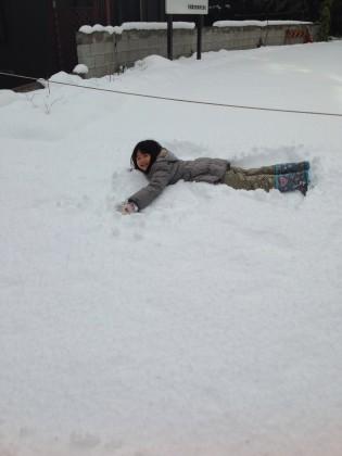今日も大原は雪です(>_<)