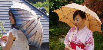 暑い日差しの強い味方 麻の日傘