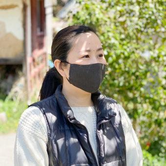 2.3日後には発送できます。みつる工芸の柿渋染め綿麻抗菌マスク